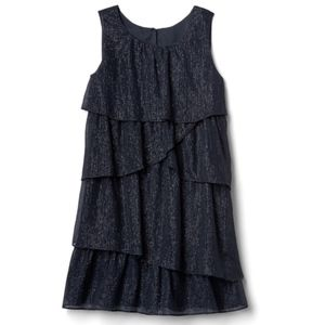 Asymmetrical Tiered Chiffon Dress